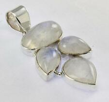 RAINBOW MOONSTONE PENDANT 925 STERLING SILVER ARTISAN JEWELRY COLLECTION Y105B