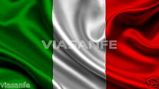 Tricolore Bandiera Italia 90x60cm Alta Qualità Italiana Mondiali Asola Per Asta