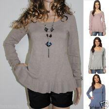 659 Winter Soft Warm Fine Thin Knit Long Sleeve Wool Jumper Size S/M & M/L