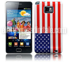 SAMSUNG GALAXY S2 S II CUSTODIA Back Cover Rigida BANDIERA Flag USA Stati Uniti
