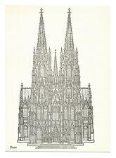 AK Köln Dom Lithographie 1948