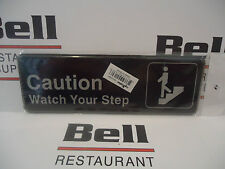 "*NEW* 3"" x  9"" CAUTION WATCH YOUR STEP Sign Restaurant"