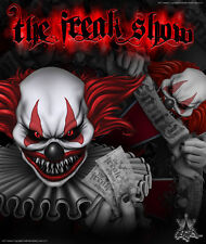 """YAMAHA BANSHEE GRAPHICS RED ACCENT FOR BLACK PARTS """"THE FREAK SHOW"""" DECALS"""