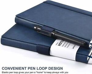 2Pack-56 Pages Journal Notebook Thick Banded with Pocket&Pen Loop&Page Dividers