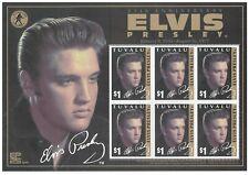 Tuvalu 2002 Elvis Presley Death Anniversary Sheetlet of 6 Stamps MUH 14-7