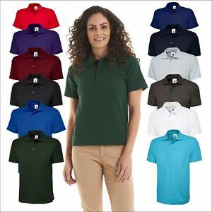UNEEK Adults Active Pique Polo Shirt Sport Work Wear Leisure Polo Top XS - 6XL