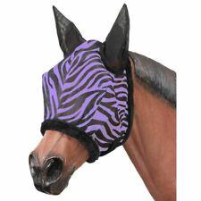 Tough 1 horse size purple zebra print fly mask horse tack equine 85-7600