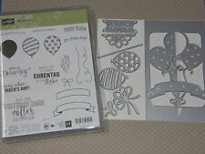 Stampin Up Stempelset Ballonparty + Thinlits Formen Pop-up-Ballons NEU Geburtsta