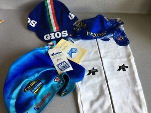 Cycling accessories : arm warmers, cap, team bandana