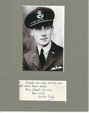 Neville Duke signed matted with photo 8x10 frame size COA 1/18 British Air Ace