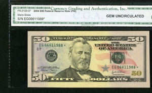 GEM 65  Fr. 2128-G* $50 2004  Star Note.  Gem Uncirculated 65. sold separately