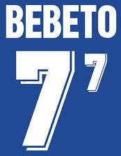 Brazil Bebeto Nameset 1994 Shirt Soccer Number Letter Heat Print Football Away