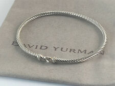 david yurman sterling silver Cable Buckle Bracelet with Diamonds , size S