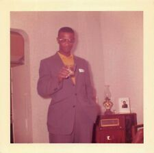 WHAT'D YOU PUT IN THIS DRINK? HANDSOME BLACK MAN ALCOHOL COCKTAIL VTG PHOTO 130