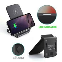 AU_ 10W Wireless Fast Charging Dock Stand Station Phone Charger for Samsung Eage