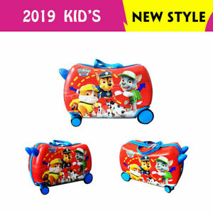 NEW 360° SWIVEL WHEELS RIDE ON SUITCASE TOY BOX CHILDREN KIDS LUGGAGE