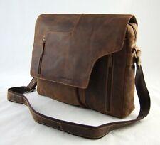GreenBurry Schultertasche 41*31*15 cm Rind-Leder Umhänge-Tasche Messenger 1694-B