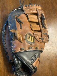 """Wilson A500 First Baseman Glove A0502 ZSBM12 12"""" Leather Baseball Mitt LHT"""