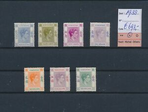 LO45024 Br Hong Kong 1938 definitives king George VI lot MH cv 693 EUR