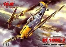 MESSERSCHMITT Bf 109 E-3 (BAR & LOSIGKEIT LUFTWAFFE ACES MARKINGS) 1/72 ICM