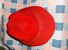Vintage Red Wool Hat Cap Ladies ? Bow Front Ear Protection Can Be Pulled Down