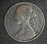 Random 1800s Great Britain UK Queen Victoria One Penny Rare British Coin