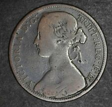 Random 1800s Great Britain UK Queen Victoria One Penny Rare British Coin