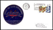 USA 1976 Cover Weltraum Viking Kennedy Space Center Metallplakette [bc0012]