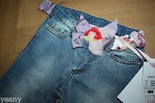 Monnalisa Jeans NEU ❤️ Gr. 110 / 5 Jahre ❤️uvp: 123,00 € Monnalisa Blumengürtel