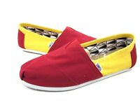 TOMS WOMEN'S CLASSIC SLIP-ON UNIVERSITY CANVAS SHOES USC RED/YELLOW MEDIUM NEW