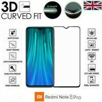 For Xiaomi Redmi Note 8 Pro Full 3D Tempered Glass 9H Screen Protector Cover