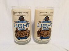2 Vintage 1970's SCHLITZ LIGHT BEER SPECIAL LAGER Glasses D