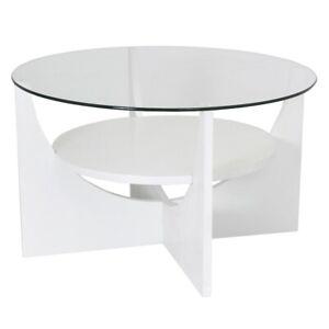 LumiSource U Shaped Coffee Table, White - TB-CTUW