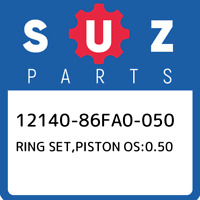 12140-86FA0-050 Suzuki Ring set,piston os:0.50 1214086FA0050, New Genuine OEM Pa