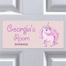 Unicorn Door Sign Custom Sign Child Bedroom Name Fun Plaque Personalised Gift