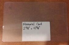 """Lamination Pouches QTY 100 Memorial Card 2.875""""x4.625"""" 5 Mil"""
