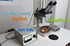 Carl Zeiss 3D Stereomikroskop 475002 mit Kugeltisch, Spiegelkasten und Trafo