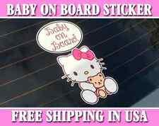 Hello Kitty Baby On Board Bumper Sticker Decal