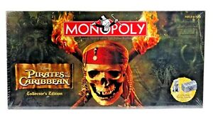 Monopoly Pirates Of The Caribbean Board Game Collectors Edition Pewter Token New