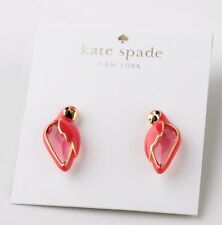 KATE SPADE 12K Gold Plated Out Of Office Parrot Studs Earrings WBRUC486 NEW