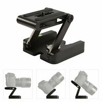 Aluminum Z Shape Quick Release Plate Tripods Head Base Adaptor for DSLR Cameras
