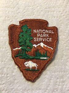 Vintage National Park Service Patch Bison Buffalo Ranger Arrowhead Patch Retired