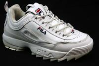 WOMENS FILA DISRUPTOR WHITE LEATHER RETRO OLD SKOOL CHUNKY SPORT TRAINERS SIZE 6