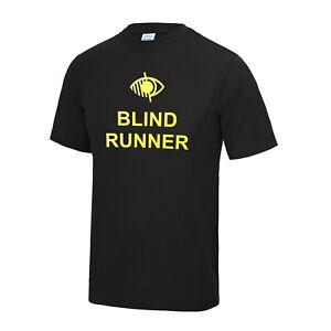 MENS/ADULTS BLIND RUNNER/GUIDE RUNNER COOL T SHIRT - MULTIPLE COLOURS AVAILABLE