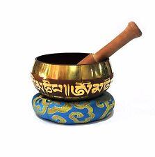 Buddhist Tibetan Meditation Singing Bowl Set - Brown