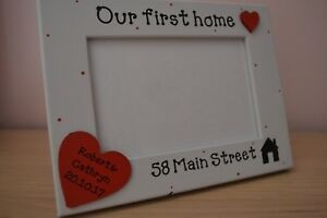 Personalised handmade OUR FIRST HOME Photo Frame Gift 6X4