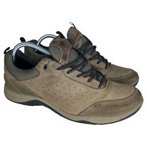 Ecco Mens Receptor Technology Yak Leather Hiking Shoes EU42 Mens 8/8.5 Womens 11