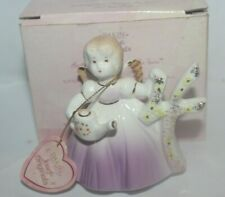 Dakin Josef Originals Birthday Angel Girl Sweet 4 Ceramic Figurine New with Tag
