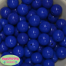 20mm Royal Blue Acrylic Solid Bubblegum Beads Lot 20 pc.Chunky gumball