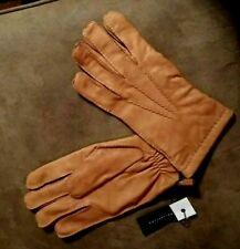 New Men's HESTRA 3 Point Deerskin Leather Gloves Light Brown Tan Top Stitch XL